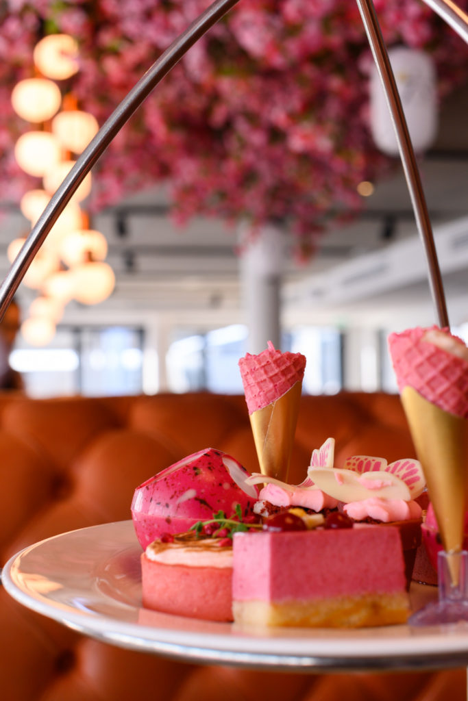 Pink Afternoon Tea at HarBar on 6th at Southampton Harbour Hotel